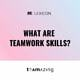 What are teamwork skills?