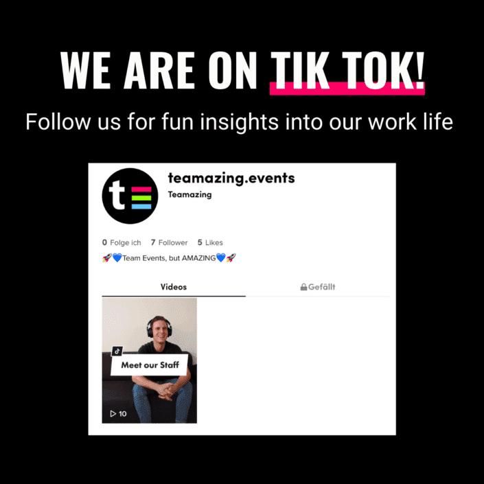 Brand New: We are on Tik Tok